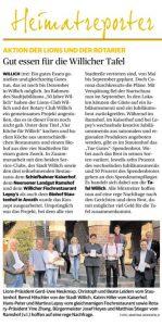 Artikel in der Rheinischen Post am 25.09.2020